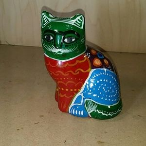 Mexican ceramic painted cat